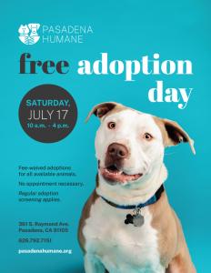 Free Adoption Day Flyer Dog